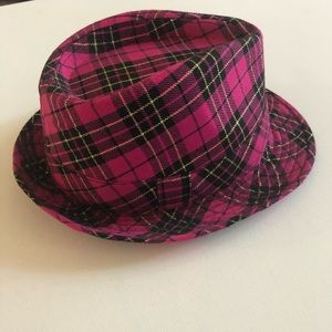 Fedora - Fuchsia, Black & Gold Plaid